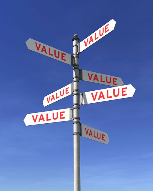 Pricing Service MOMO: We Want it to Offer Value to Everyone - pic of direction signs with value on them