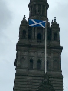 Tower and Scottish flag