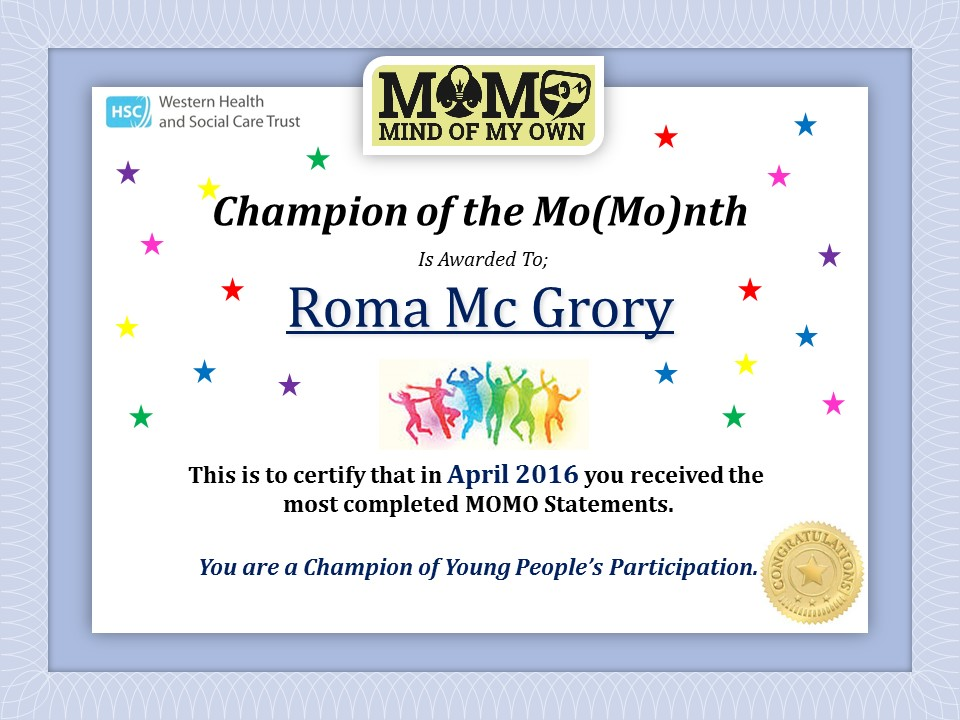 Western Trust Champion Certificate